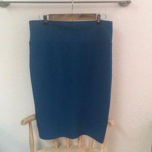 Dark Teal pencil skirt